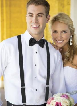 bretelle uomo matrimonio elegante nero