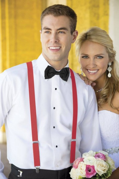 bretelle uomo matrimonio sposo elegante rosse economiche online