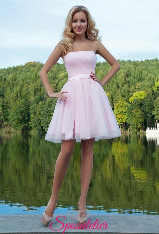 online store c518d 9a232 abiti da cerimonia online siti italiani corto colorato rosa da cocktail