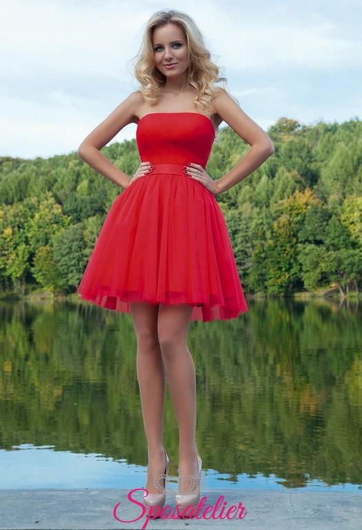best website 8a6dd 22453 vestiti da cerimonia online siti italiani corto colorato rosso al ginocchio