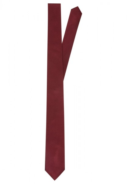 Cravatta stretta uomo cravattino bordeaux