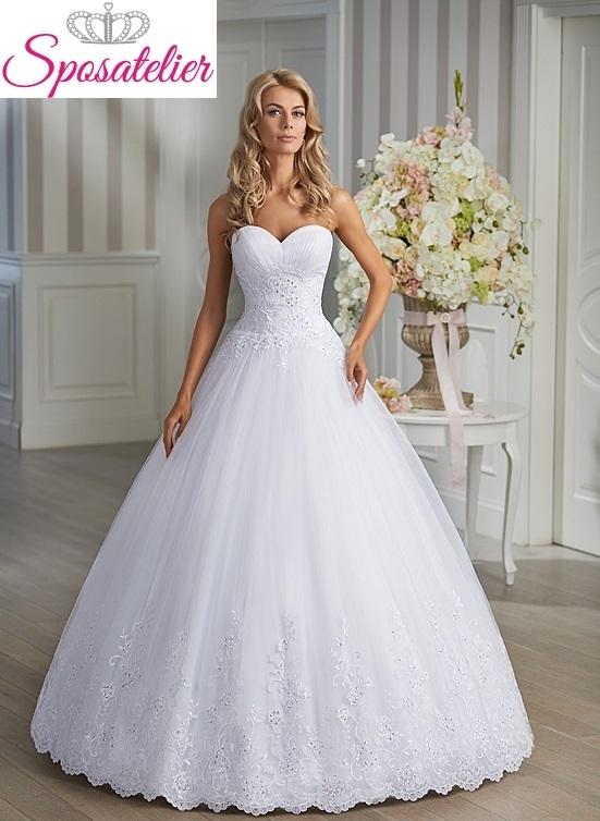 brenda-abito da sposa online economico ampio principesco con scollatura a  cuore daab9899348