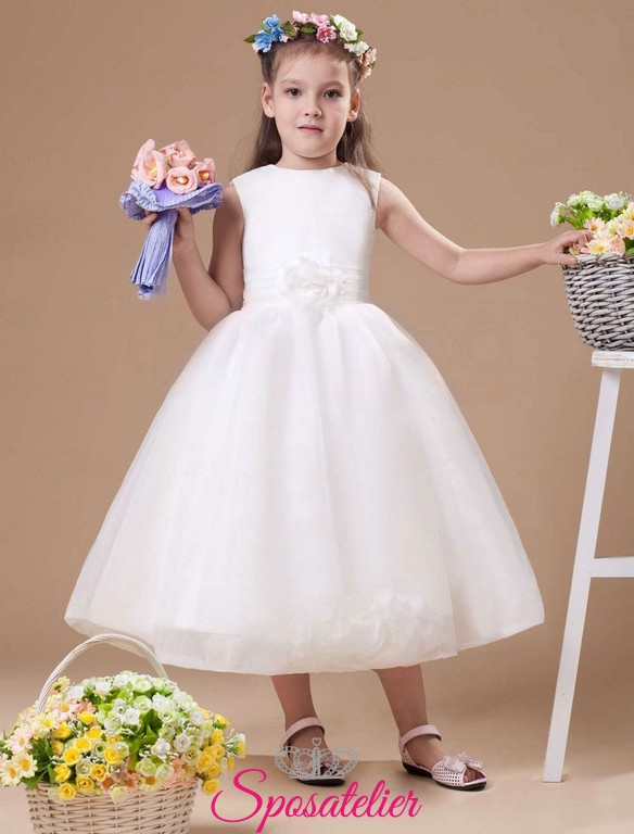 reputable site b856c e0765 evah-abiti da cerimonia bambina in raso economici online