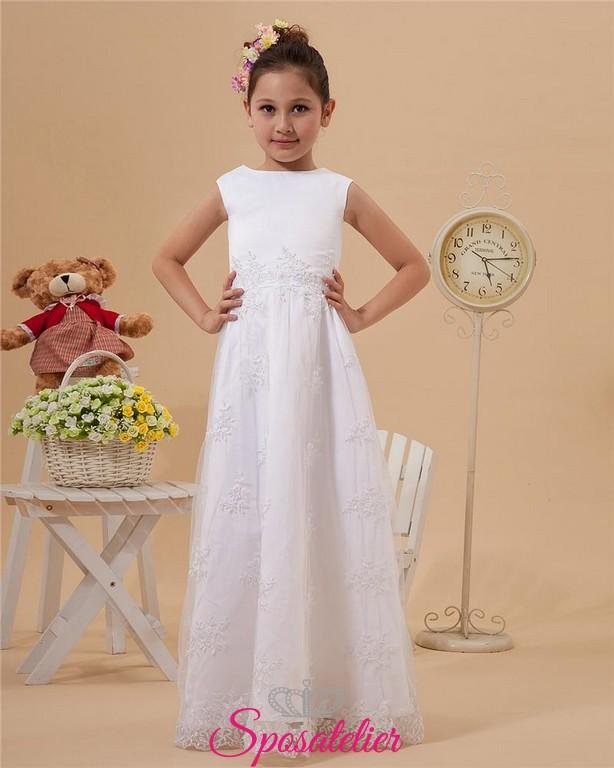 Vestiti Eleganti Da Bambina.Nadia Abiti Da Cerimonia Bambina Elegante Ricamato In Pizzosposatelier