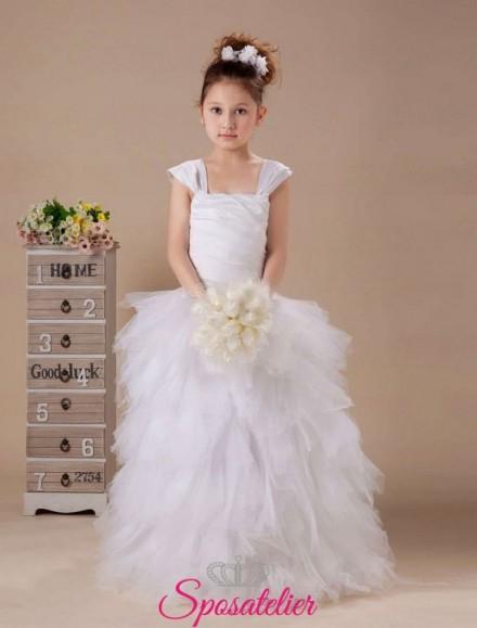 Abito da cerimonia per bambina principessa con gonna vaporosa