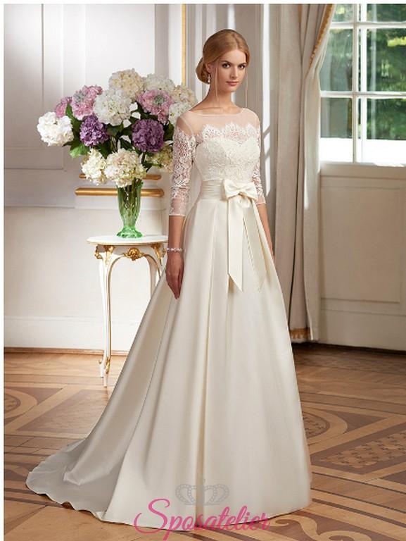 spesso abito da sposa di lusso raffinato ed elegante Italia economico  UY69