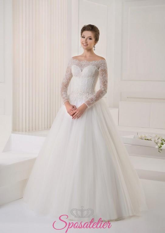 151f4b3bf501 linata- abiti da sposa economico online elegante con scollo a barca