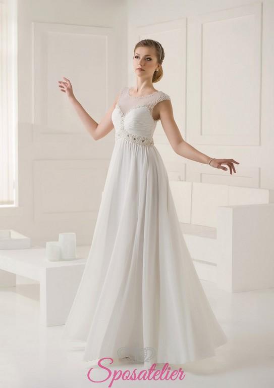 Abito Da Sposa Lungo Semplice   Abito da sposa semplice ed elegante i vestiti  sono 809f3f82c43