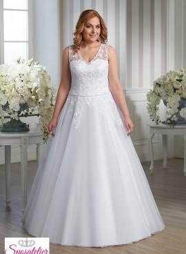 vestiti da sposa taglie extra large economici online ampio ricamato in pizzo