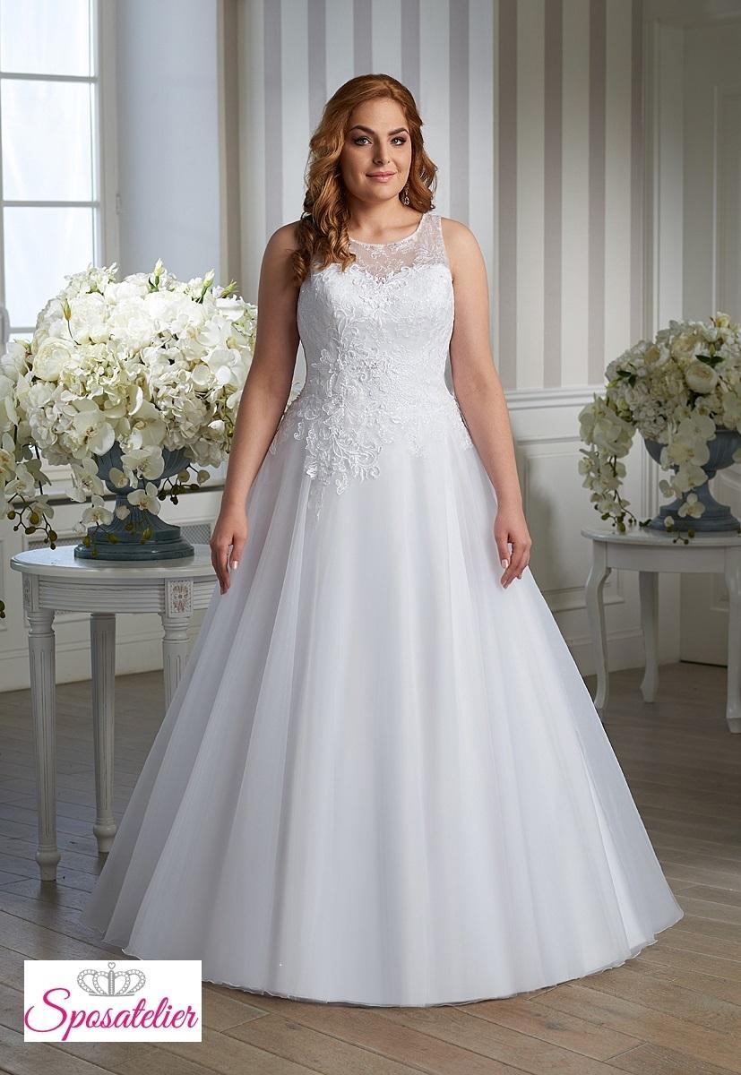 07d0a5f6a88c abiti da sposa per taglie comode ricamati economici online ampio