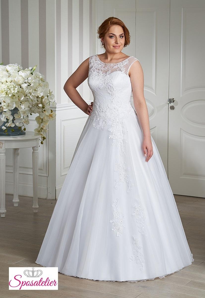 b23297a44b6c abiti da sposa per taglie comode principessa giromanicheSposatelier