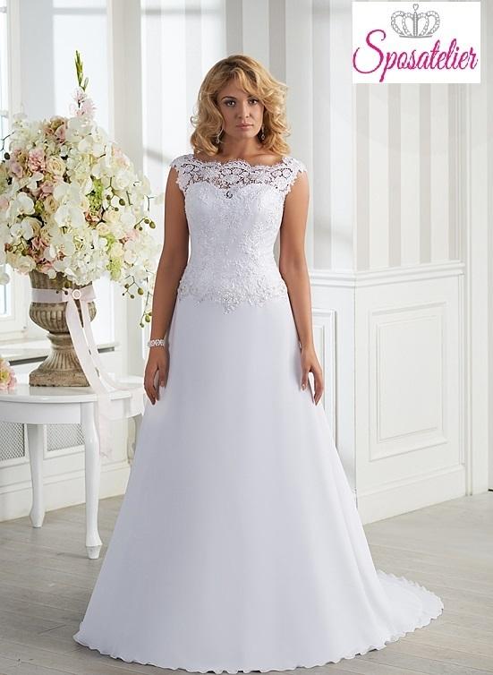Scarpe Matrimonio Uomo Milano : Vestiti da sposa taglie comode semplice con applicazioni e