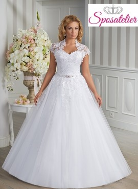 abiti da sposa per taglie forti 2017 economico online ampio principesco