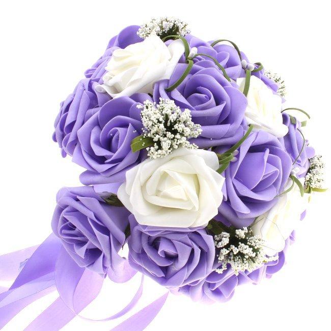 Bouquet Sposa Viola.Bouquet Sposa Con Rose Viola E Bianche 2016 2017sposatelier