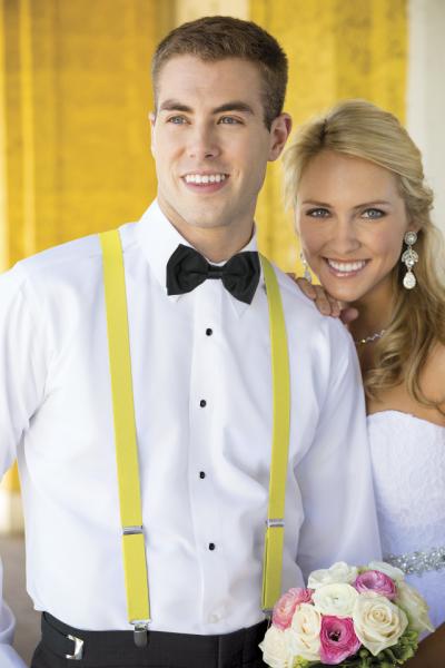 bretelle uomo matrimonio sposo elegante gialle economiche online