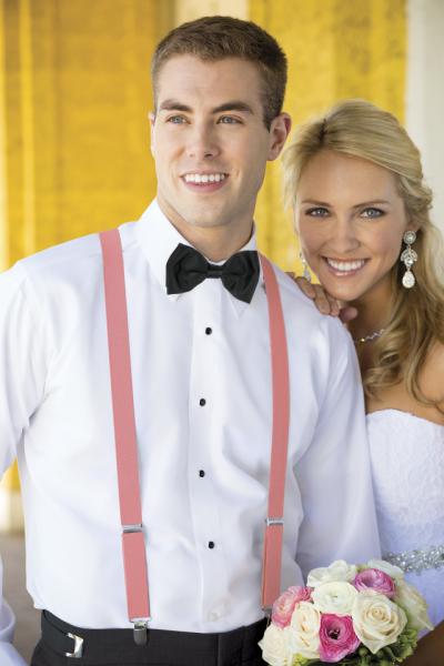 bretelle uomo matrimonio sposo elegante rosa economiche online