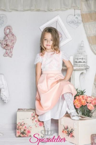 tenia-vestiti cerimonia bambina on line moda nuova collezione colorato