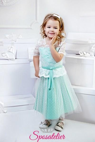 venia-vestiti cerimonia moda bambina on line nuova collezione colorato
