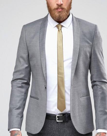 Cravattino uomo colore oro