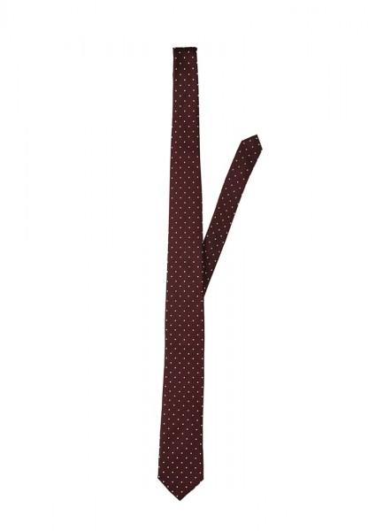 Vendita cravatte online uomo colore marrone a pois