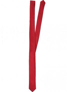Cravatta slim cravattino uomo colore rosso