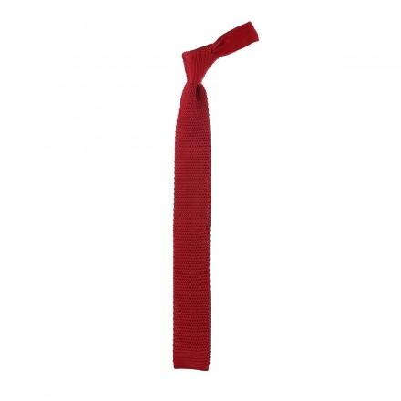 Cravatta a maglia colore rosso