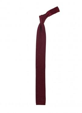 Cravatta a maglia colore bordeaux