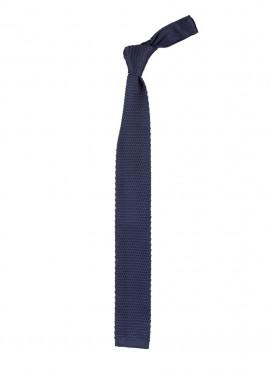 Cravatta a maglia colore blue scuro