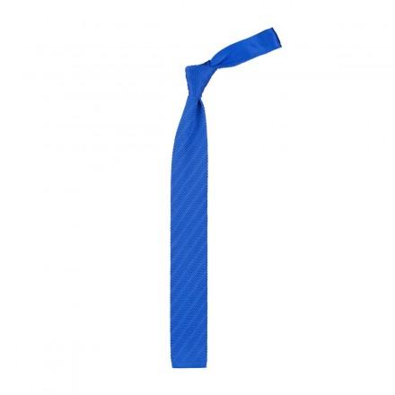 Cravatta a maglia colore blue negozio online