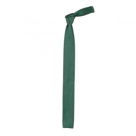 Cravatta a maglia colore verde