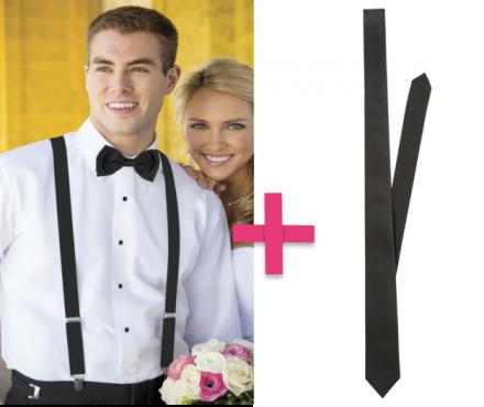 OFFERTA Pacchetto bretelle + cravattino