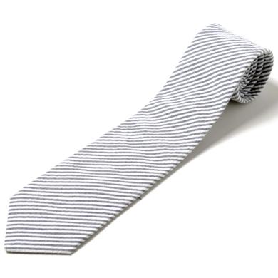 Cravatta economica a righe bianco e grigio