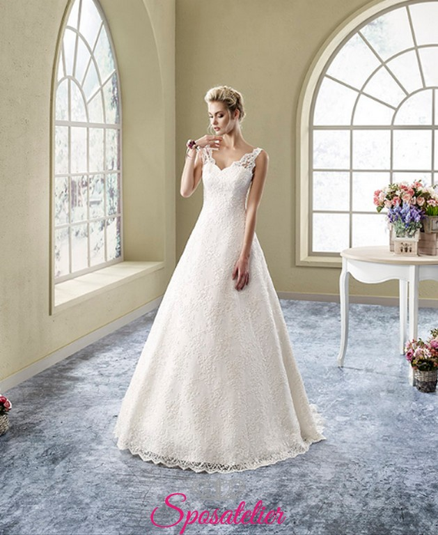 5af4f69237f1 abito da sposa da sogno online economico con scollo tondoSposatelier