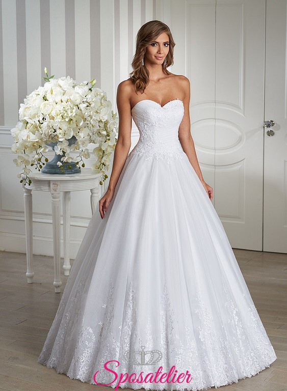 Eccezionale Abito da Sposa matrimonio semplice elegante e raffinato Italia  YF08