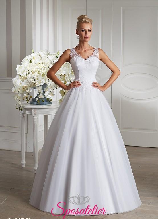 Favorito abito da sposa elegante e raffinato sartoriale sito italiano  ZB66