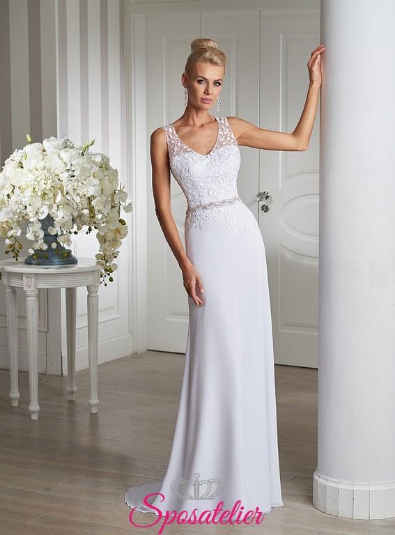 Estremamente abito da sposa per matrimonio semplice e raffinato sito  WA39