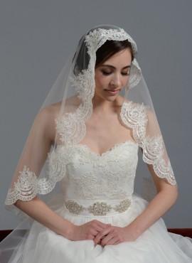 velo nuziale online economico nozze mantilla corto