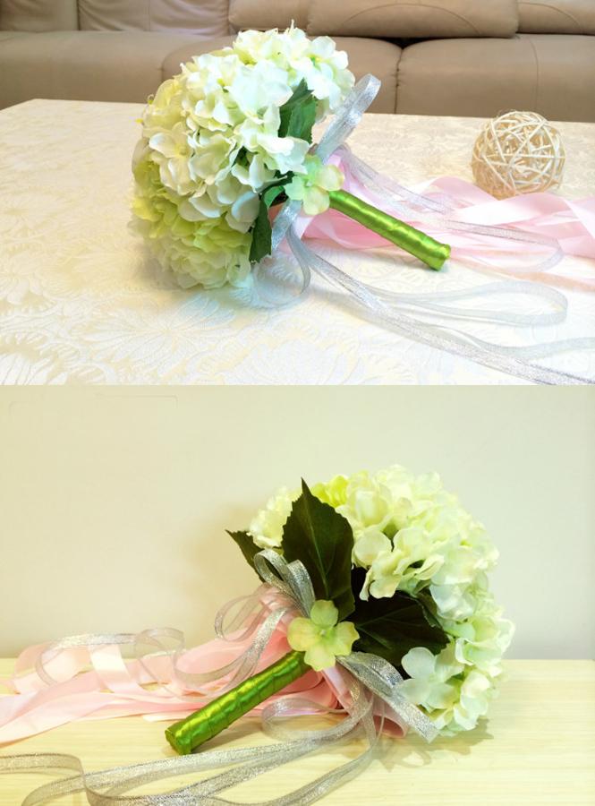 Bouquet Sposa Economici.Bouquet Sposa Verde E Bianco Finto Online Economicosposatelier