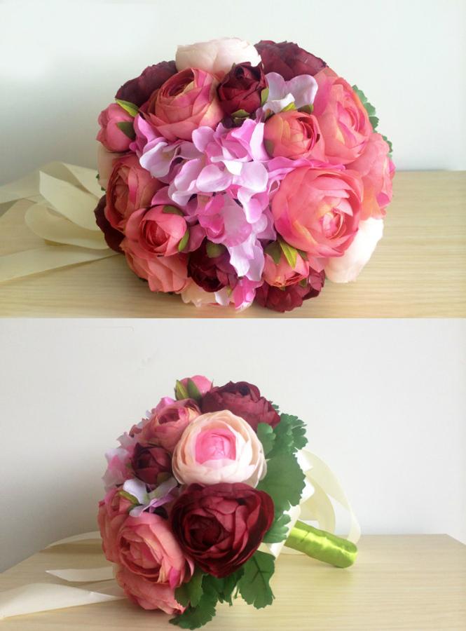 Bouquet Sposa Peonie.Bouquet Sposa Peonie Rosa E Borgogna Bellissimo Matrimonio