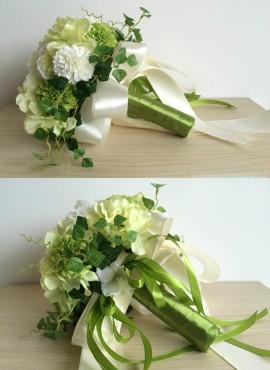 Bouquet Sposa particolare verde e bianco finto online