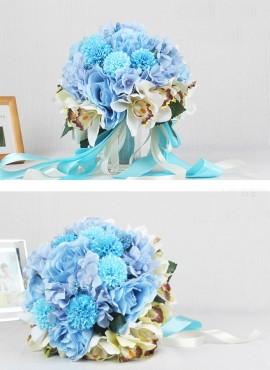 Bouquet da Sposa originale prezzi bassi fiori azzurri economico