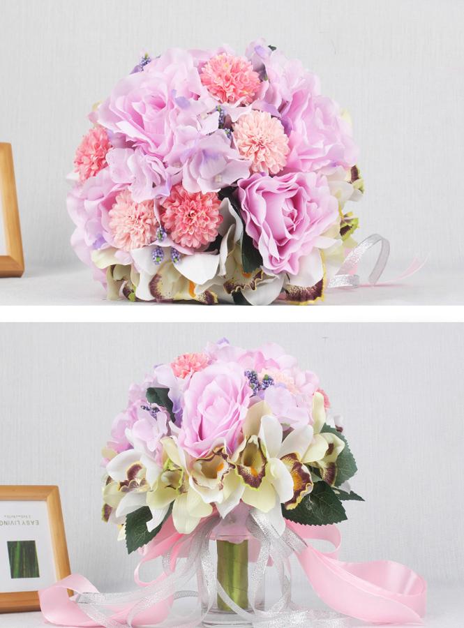 Bouquet Sposa Prezzi.Bouquet Da Sposa Originale Di Orchidee E Ortensie Prezzi