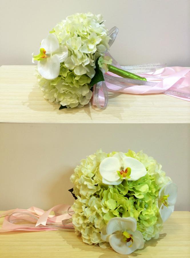 Bouquet Sposa Bianco E Verde.Bouquet Sposa Verde E Bianco Artificiale Online Economicosposatelier