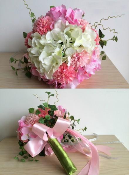 Bouquet da Sposa originale prezzi bassi fiori rosa e bianchi economico