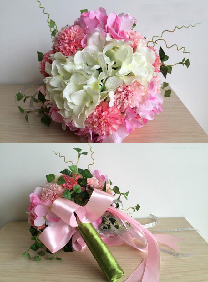 Bouquet Sposa Prezzi.Bouquet Da Sposa Originale Prezzi Bassi Fiori Rosa E Bianchi