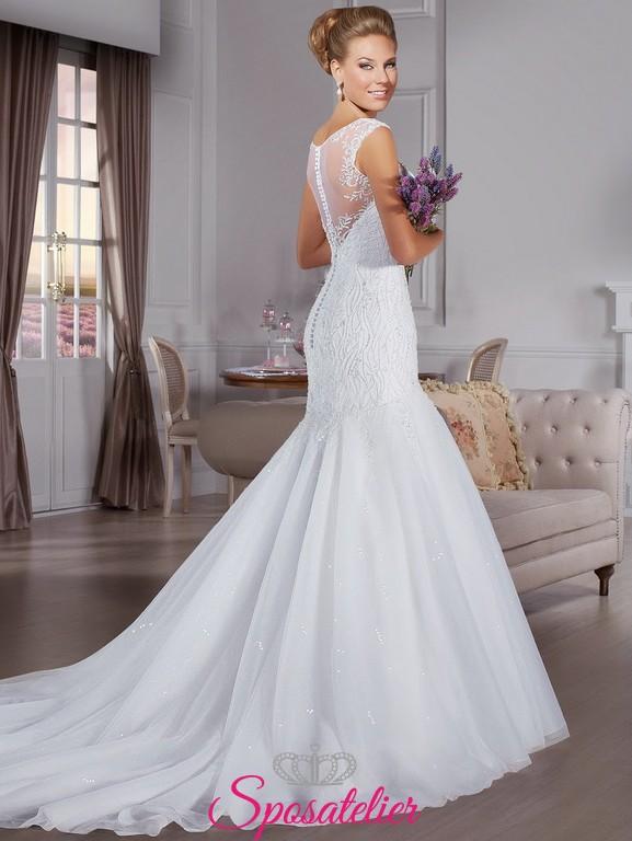 23801e8321bf yoira- abiti da sposa aderente sui fianchi con pizzo Italia online. Vendita!