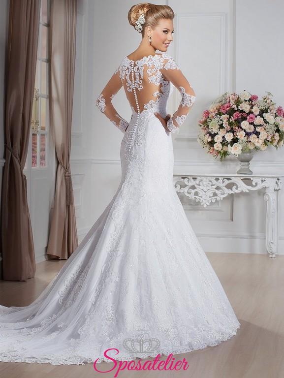 4be95b894788 quoira- abiti da sposa aderente sui fianchi con pizzo Italia online  economico. Vendita!