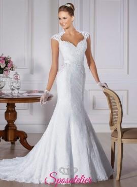 2b88638c5a12 prima- abito da sposa attillato con pizzo Italia online economico con  bottoncini