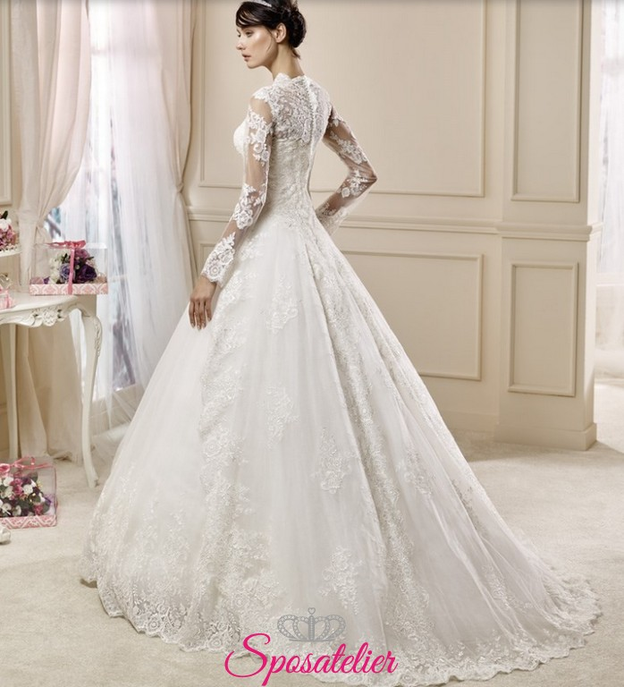 Amato tiaia- Abiti da sposa per matrimonio invernale con maniche lunghe  EH58