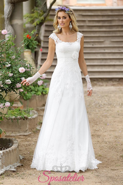 Matrimonio In Stile Bohemien : Finia vestito da sposa economico online con spalline